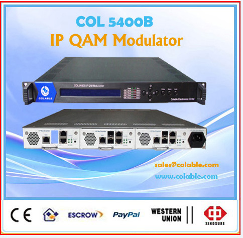 IP QAM Modulator Mux Scrambler,3 modules in 1U, 8 frequency or QAM per Module OL5400C