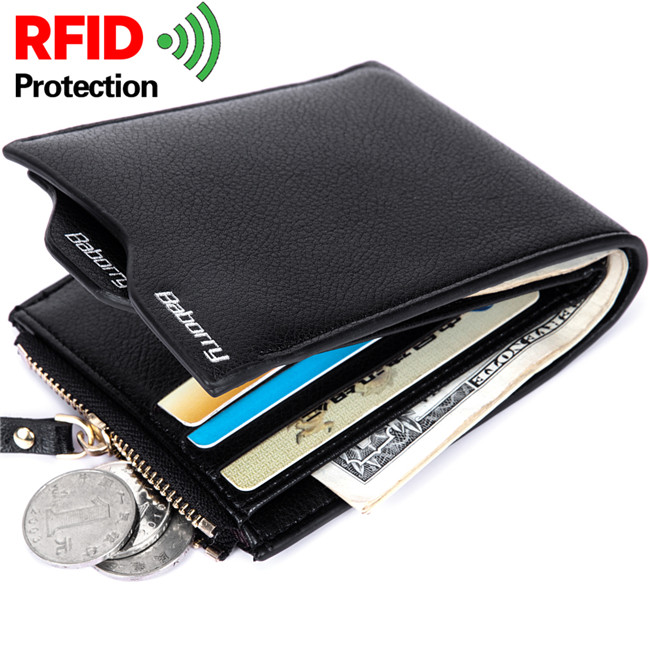 RFID Blocking leather Men <strong>wallet</strong> with private label