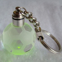 2015 Popular Personalized Key Chain /Football Shape Crystal Keychain/ Gift for Souvenir