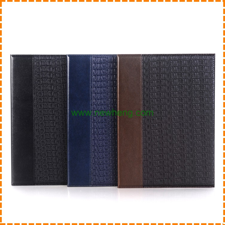 Luxury Crocodile Pattern PU Stand Book Leather Tablet Case For iPad Pro 12.9""