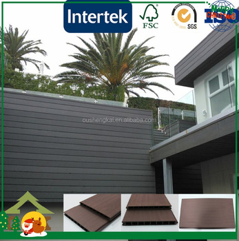 Fence panel wpc wooden composite recycled exterior fence
