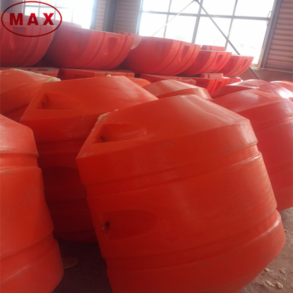 Plastic floatation with PU foam for 12'' HDPE pipe