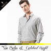 Excellent quality latest style 100% polyester plaid design patterns mens shirt