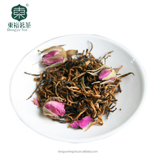 Chinese tea manufacturer fresh Rose Black Tea Golden bud premium tea gift packing style