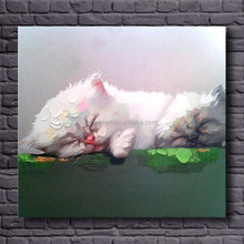 canvas modern cut abstract cat oil painting for kids room