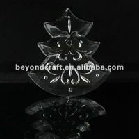 3d laser crystal pendants for chandelier as lighting accessory