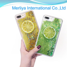 Bling liquid floating case glitter active quicksand crystal clear TPU phone case for iphone7 7puls
