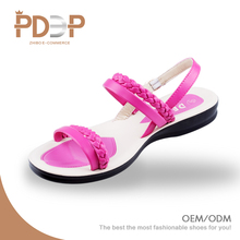 Low price latest pu leather rope camel womans ladies flat sandals