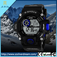 High quality multifunction noctilucence rattapante alarm clock men watch