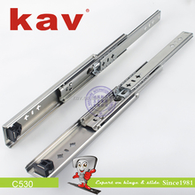 C530 53mm width heavy duty 28 inch drawer slides ball bearing telescopic runners channel