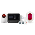 2017 hot sell wireless security alarm system support WIFI or GPRS internet smart home GSM alarm system