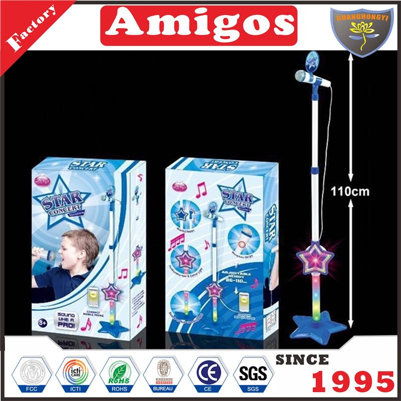 chenghai karaoke With amplifier light music boy cute floor stand microphone toy
