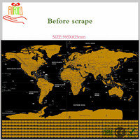 New Hot Decoration Scratch Map With