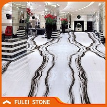 natural polished white marble with dark green veins tiles price