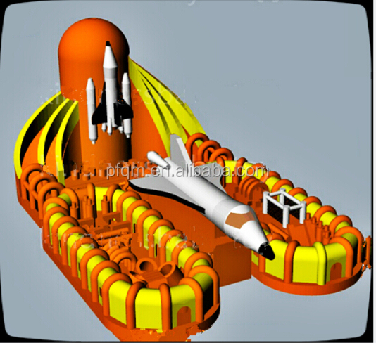 new design inflatable obstacle course for kids/inflatable tunnel game