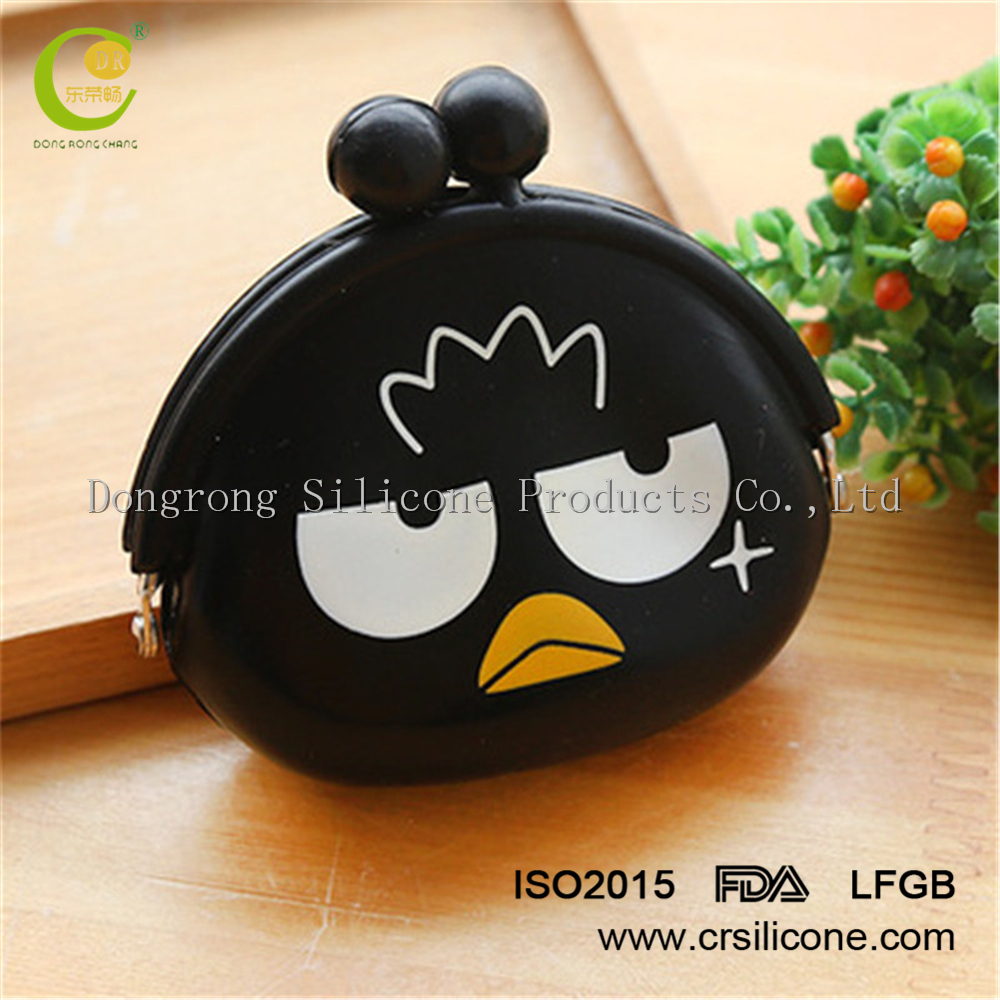 2017 promotional gifts lovely angry black bird shape coin purse bag for women