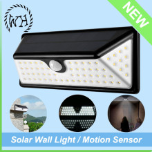Motion Sensor Exterior Half Moon Glass LED Solar Wall Light