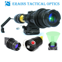Suzero Zoomable Long Distance 100mw tactical night vision riflescope of 100mw Green Laser Flashlight /Sight (ES-LS-KS300)