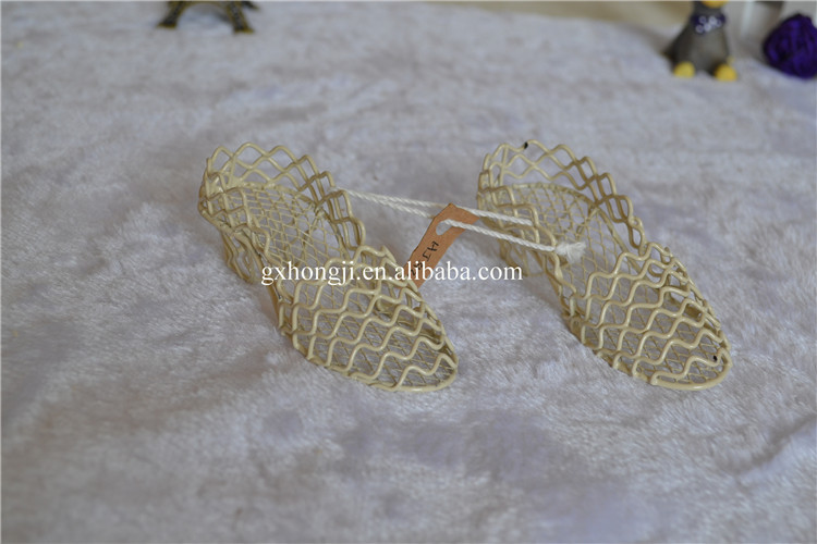 Wrought iron mini toy shoes decor