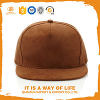 Stylish custom blank suede snapback with leather strap