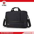 Cheapest price leather polyester cotton fabric material laptop bag