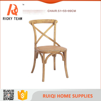 American Country cross back dining chair/rattan seat cross back chair