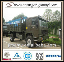 heavy duty truck howo 4*4 special vehicle for sale