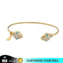 New Model Indian Snake Head Open Adjustable Tanaman Gold Bangles Design Bracelets with Charms with Price
