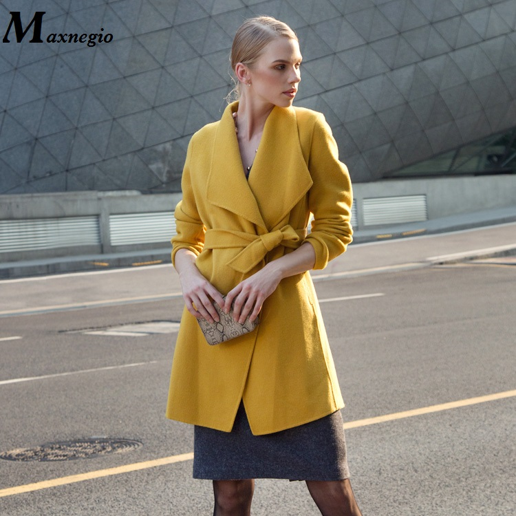 OEM And ODM High End OL Style Long Trench Coat 2015 Autumn/Winter Latest Coat Designs For Women