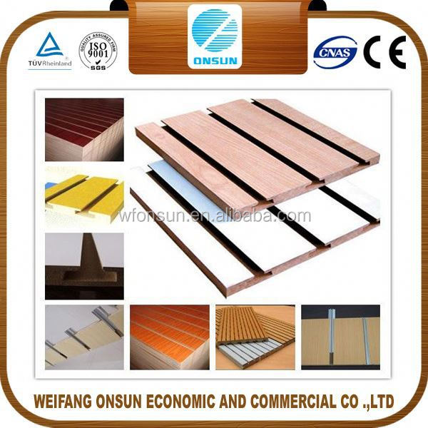best price stable quality slotted mdf board for kitchen cabinet for decoration