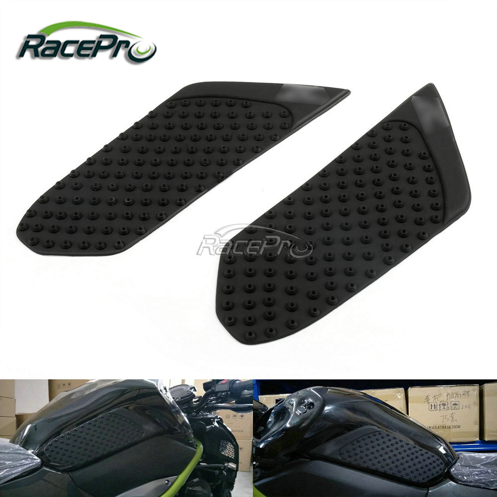 Motorcycle Side Gas Fuel Grip Decals Tank Pad Traction Protector For Kawasaki Z900 2017