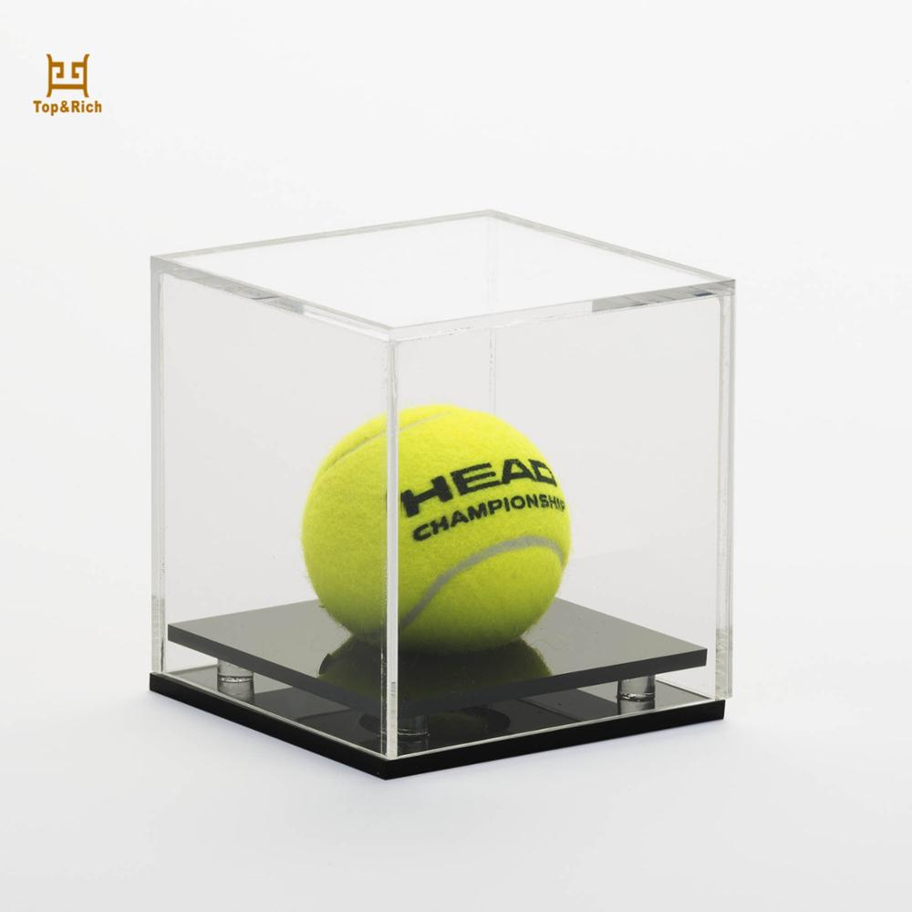 Pop Locking Acrylic Cricket Ball Display Case Acrylic Cube Baseball Display Case