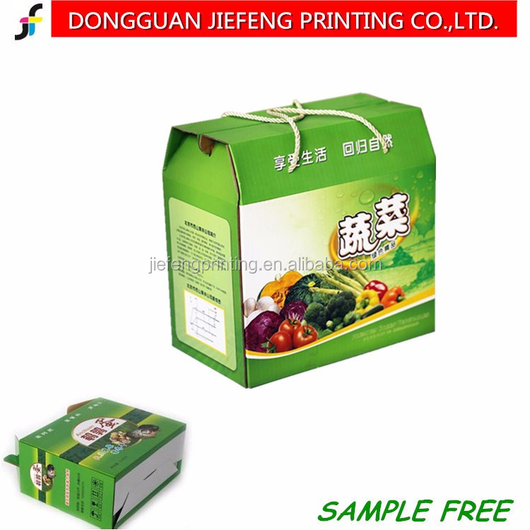 Custom Printed Corrugated carton box for fresh fruit and vegetable packaging for gift