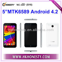"Support multi-language Android 4.2 MTK6589 Smartphone 1.2GHz 1G/4GB ROM 5"" Screen"