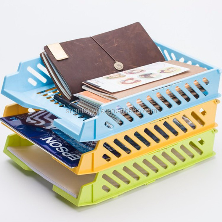 Office desk organizer Plastic Documents basket plastic file tray