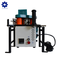 Convenient small edge banding machine double glue profiled manual edge bander