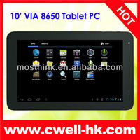 10 inch capacitive via 8850 tablet pc