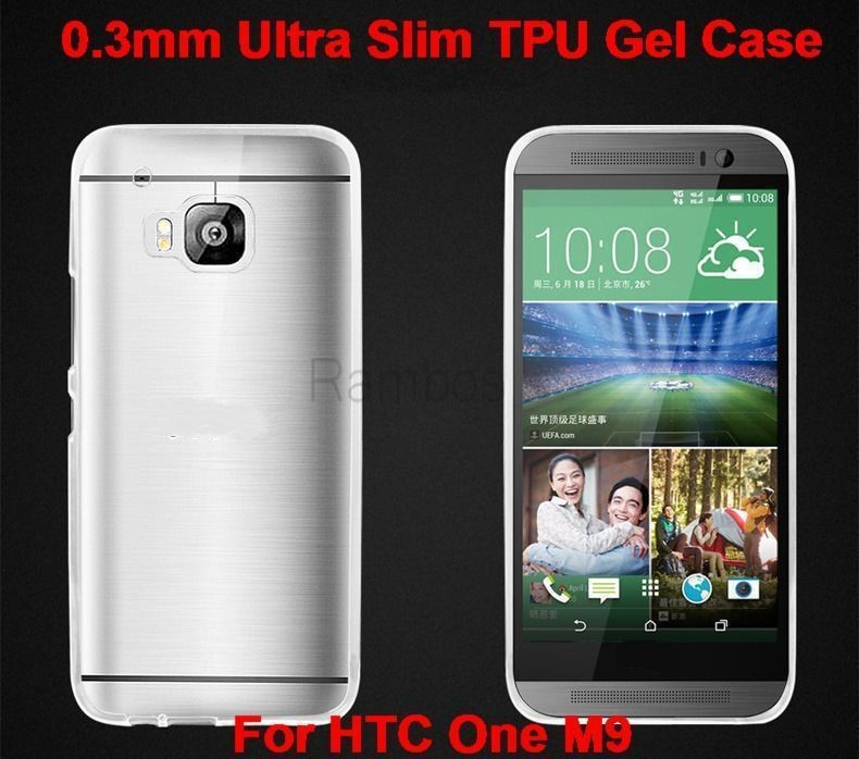 0.3mm TPU Fashion Smooth Skin Translucent Protective back Cover for HTC M9
