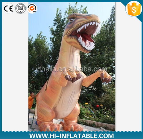 customized good quality inflatable cartoon characters big inflating dinosaure model