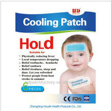 Hot selling baby Cooling patch for fever,headache,toothache,sprain,bruises,refresh