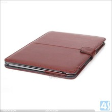 Factory price folio leather case cover for Macbook Air 12 , wallet stand sleeve cover for new macbook