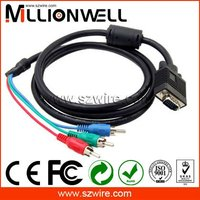 Glod plated VGA to TV Cable VGA to 3 RCA cable