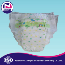 Custom made sap paper quality disposable sanitary baby diapers