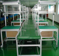Aluminium Independent Work Table Assembly Line Equipment for Mobile Phone Production Line