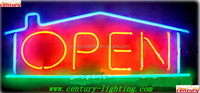 real estate neon open sign
