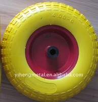 polyurethane rubber coated wheel