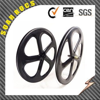 SoarRocs carbon wheels 5 spokes clincher 58mm carbon wheels road bike five spokes wheelsets