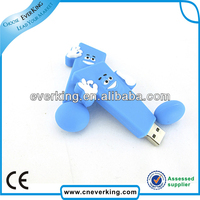 creative promotional gift cute soft pvc usb flash drive 256mb