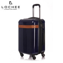 "Zipper Plastic 24"" Case Vogue Boarding 20 Suitcase Trolley Bag On Wheel"