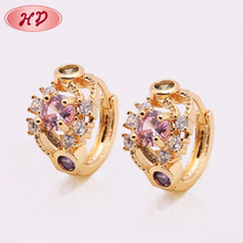 Wholesale Modern 24K Gold Copper Jewelry Earring Supplies